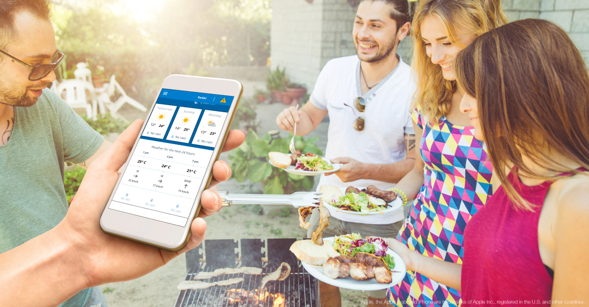 Barbecue with friend and BOM Weather App