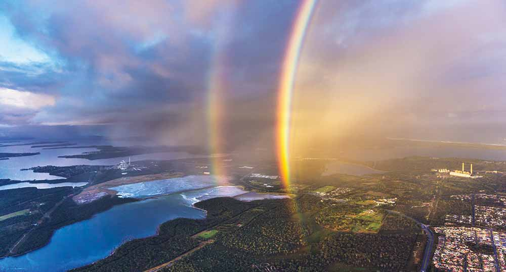 Double rainbow over Lake Munmorah, New South Wales, 16 May 2015—Andy Smith Photography
