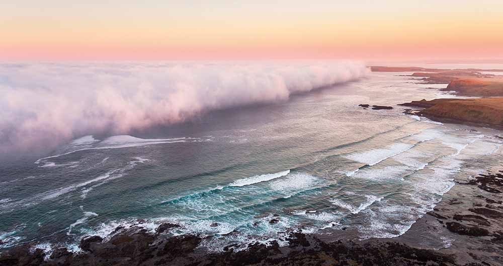 Photograph: Sea fog, Phillip Island, Victoria, 1 March 2017—Hayden Smith, Airtight Aerials