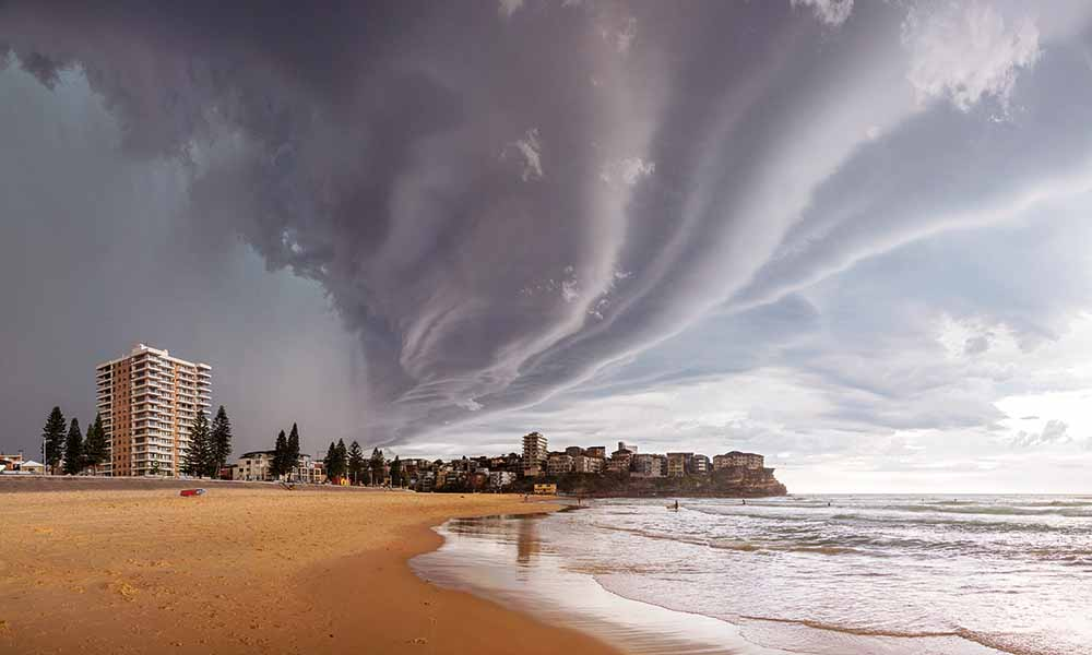 A supercell thunderstorm looms over Manly Beach, Sydney, New South Wales, 5 December 2014—Mauricio Bacchi Photography