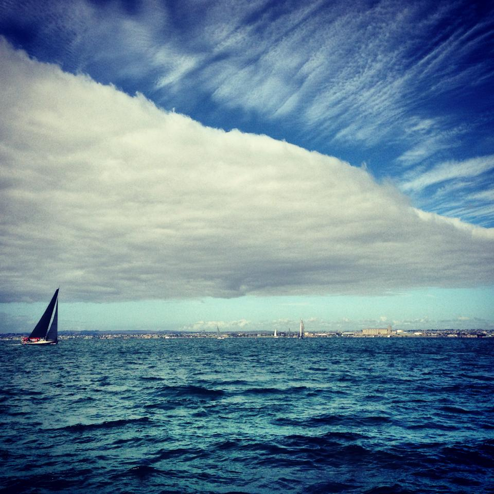 cloud over sailing boat