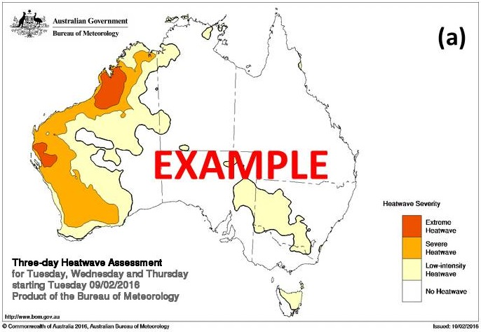 Example of a Heatwave Assessment map