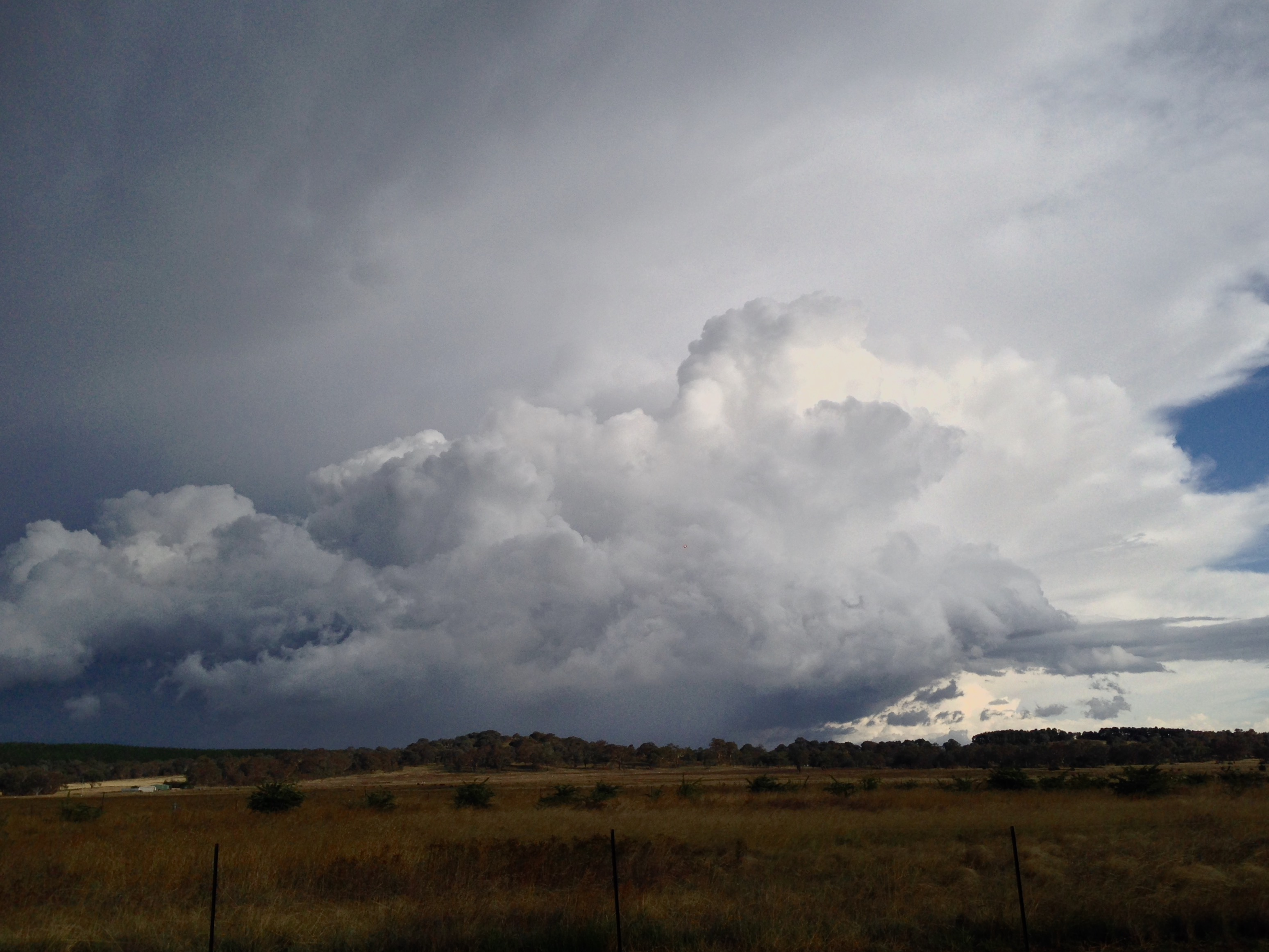 Cumulonimbus cloud over Canberra, ACT