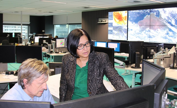 Image: Tarini in action at the Bureau's national operations centre