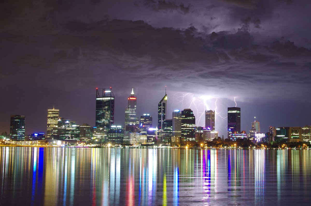 Image: Lightning over Perth. Credit: Andrew O'Connor, ABC News