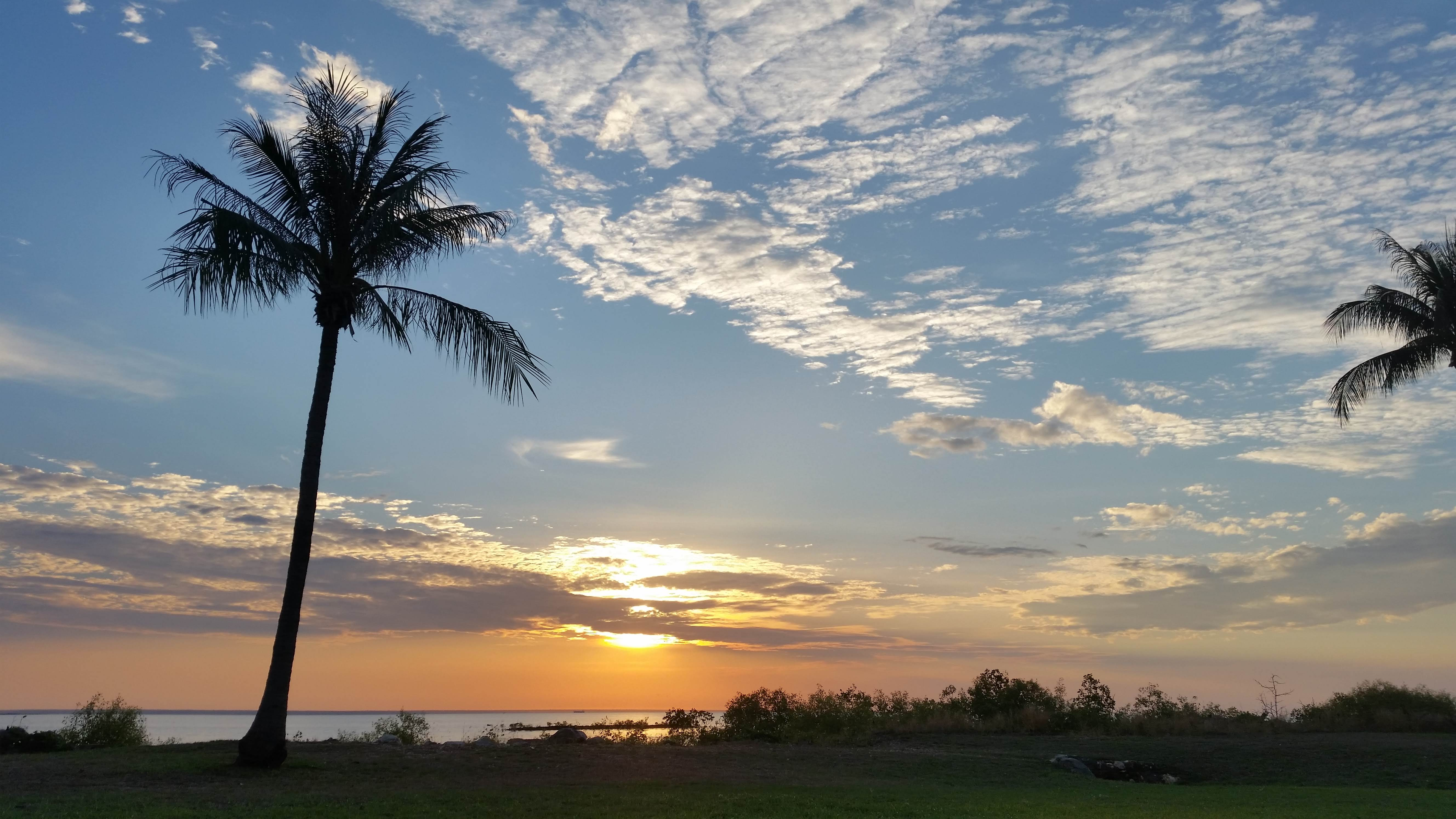 Sunset at the beach in Darwin. Credit: Nicholas Loveday