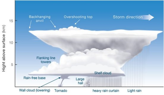 diagram of a thunderstorm