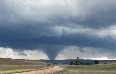 Strong tornado near the highway between Nimmitabel and Cooma New South Wales, 23 December 2008.