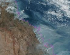 GIF: Fires in Queensland